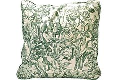 """Love this! But I don't need """"Vintage."""" I'll have to look for some fabric like this and make a couple... Floral Toile Pillow on OneKingsLane.com"""