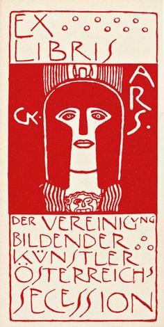 bookplate by Gustav Klimt, Vienna Secession, 1900