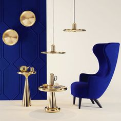 SPUN generously proportioned pendants - wall lights that hint at a Space Age Deco or Pop Art aesthetic - isalone MilanDesignWeek via tom dixon studio