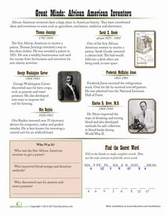 Worksheets Emancipation Proclamation Worksheet historian reading comprehension skills and black on pinterest history month fourth grade worksheets african american inventors