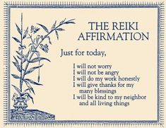 Just for Today Reiki Affirmations - Bing images Quotes Thoughts, Positive Thoughts, Positive Vibes, Positive Quotes, Morning Affirmations, Daily Affirmations, Meditation Musik, Calm Meditation, Good Vibe