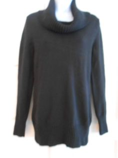 womans sweater black crowl neck  pullover work office casual sz s