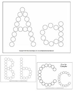 Alphabet Do-A-Dot Worksheets