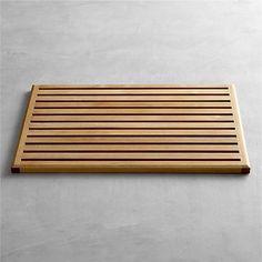 Teak Doormat in Bath Rugs | Crate and Barrel