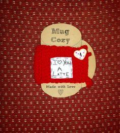 I love you a latte cup cozy crochet cozy mug cozy by mandag433