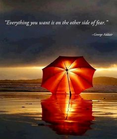 Other side of fear quote via Carol's Country Sunshine on Facebook
