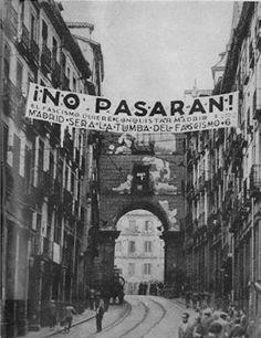 photo noir et blanc : NO PASARAN ! Espagne