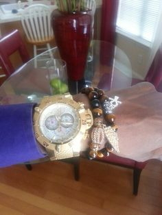 Gold all in my watch