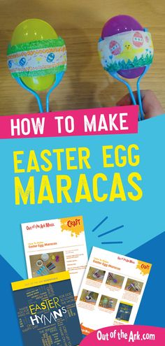 This fun and easy Easter craft idea for kids is perfect for children of all ages. With step-by-step instructions this is easy to follow and will be lots of fun for children to use in Easter concerts for both schools and Churches.  #Easter #EasterCrafts #EasterMusic Primary School, Teachers Primary School Songs, School Themes, Easter Songs For Kids, Maracas Craft, Singing School, Easter Activities, Church Activities, Making Easter Eggs, Spider Crafts