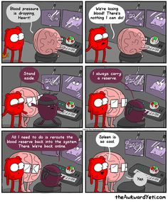 Spleen saves the day via the Awkward Yeti