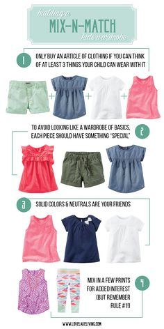love lake living: 4 easy steps for building a mix-n-match (capsule) wardrobe for kids