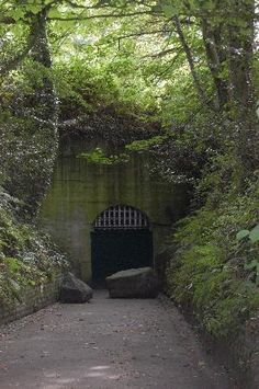 Entrance to a German Underground Hospital in Guernsey -- from the occupation during WW II