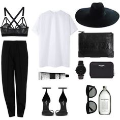 A fashion look from May 2014 featuring Jacquemus t-shirts, Kenzo pants and Lonely bras. Browse and shop related looks.