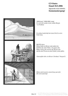 Gothic Storyboard And World On
