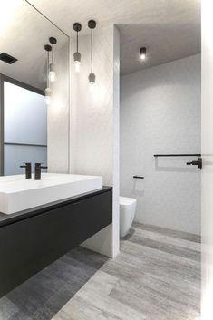 93 Cool Black And White Bathroom Design Ideas (2)