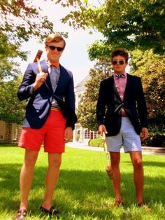 Bow ties, shorts and shades...