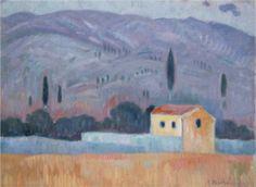 'Landscape', Oil On Canvas by Konstantinos Parthenis Egypt) Post Impressionism, Art Database, Love Art, Oil On Canvas, Egypt, Museum, Landscape, Gallery, Drawings