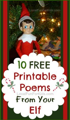 Have a lazy elf? This is perfect for those mornings when your elf on the shelf forgets to move. Here are 10 FREE printable poems you can print ahead of time! Elf on the shelf ideas