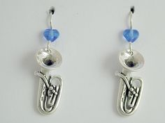 Sterling Silver Tuba dangle earrings-music,marching band, instrument, Tubas This is an awesome pair of sterling silver tuba earrings. These measure approx. They have blue glass hear Band Mom, Band Nerd, Love Band, Tuba Pictures, Brass Music, Marching Band Humor, Instruments, Music Stuff, Music Things