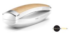 Philips Design Cordless Telephone and Answering Machine, Single DECT, White/ Wood Wood Online, Cordless Telephone, Acoustic Design, Cable Management System, Hide Wires, Area Codes, Docking Station, Ergonomic Mouse, White Wood