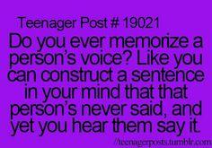 I do sometimes