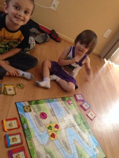 """Robot Turtles...totally rocks our socks! Teach your preschooler the basics of programming through problem solving skills and silly noises. This game 'levels up' and gets more difficult as your child learns the best ways to solve the puzzles."""