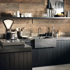 Industrial kitchen with Dupont-corian