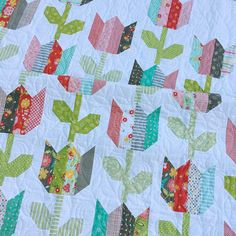 Tulip Market--a jelly roll friendly quilt.