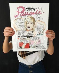 @MirandaMakaroff, perdónale por favor  ILustración de @Juanjo_Saez; puedes encontrar sus ilustraciones en su tienda de @etsy: 'BoutiqueJuanjoSaez'. Ilustración completa en nuestra web (link in bio) #vicespain #vice #magazine #ilustracion #mirandamakaroff #parranda #office #regalosquemolan #JuanjoSaez #etsy
