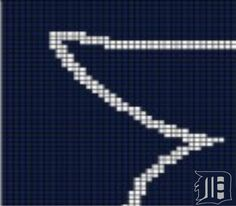 Detroit Tigers (B21) via Loopaghans Custom Crochet. Click on the image to see more!