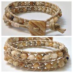 Double wrap bracelet by BelliniWrapBracelets on Etsy