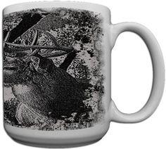 Deer Hunt Custom Coffee Mug CERAMIC from Redeye Laserworks - OMJ Outdoors