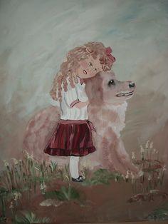 Love of a dog acrylic
