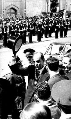 """an original press photo from Venezuela featuring El Presidente Electo, Romulo Gallegos sal salir del Capitolio despues de presentar el juramento. . Photo is 5"""" x 8"""" in size."""