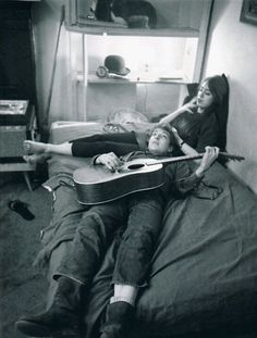 Bob Dylan and Suze Rotolo at their Greenwich Village apartment, January 1962