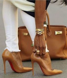Show off your inner style & personality Camel Pumps, Camel High Heels, Brown High Heels, Classy High Heels, Nude Pumps, Stilettos, Hermes Shoes, Hermes Birkin, Tan Heels
