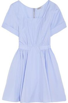 Cotton-poplin mini dress #minidress #women #covetme #ninaricci