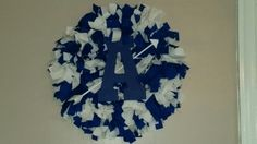 Allegany high school rag wreath I made these cost $35