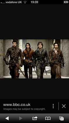 The Musketeers Porthos: Howard Charles D'Artagnan: Luke Pasqualino Athos: Tom Burke Aramis: Santiago Cabrera