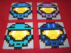 Halo  Red vs Blue  Blue Team Coaster Set Set of 4 by ASKstudios, $10.00