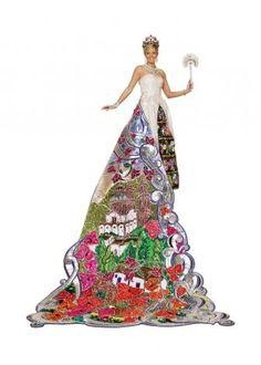 Duchess Katherine Jane Molak, Duchess of Lustrous Finery  Dress by Javier Castillo