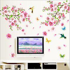 αφαιρούμενη δαμάσκηνο άνθος αυτοκόλλητο περιβαλλοντική PVC τοίχο – EUR € 8.99