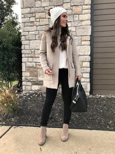 32 Cute Outfits Winter for Women Style Comfy Fall Outfits, Cozy Winter Outfits, Winter Outfits Women, Casual Outfits, Cute Outfits, Fashion Outfits, Womens Fashion, Winter Dresses, Women's Neutral Outfits