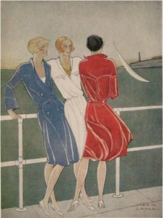 Fashion illustration by Viera Landa, 1929, Blanco y Negro magazine.