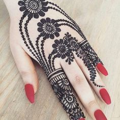 Trendy Jewellery Mehndi Designs for Girls - Kurti Blouse Indian Mehndi Designs, Mehndi Designs 2018, Mehndi Designs For Beginners, Mehndi Designs For Girls, Unique Mehndi Designs, Wedding Mehndi Designs, Mehndi Designs For Fingers, Henna Designs Easy, Beautiful Henna Designs