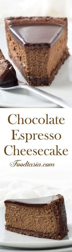 Chocolate Espresso Cheesecake | Posted By: DebbieNet.com
