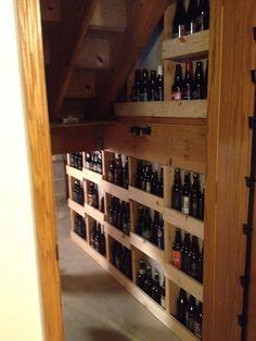 Homebrewing room Under the stairs beer storage!