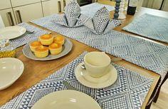 Tischdekoration für Landhaus im Landhaus Stil.