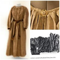Bilderesultat for viking pleated underdress Costume Viking, Viking Garb, Viking Reenactment, Viking Dress, Medieval Costume, Medieval Dress, Medieval Fashion, Norse Clothing, Medieval Clothing