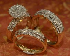 Morganite Engagement, Engagement Wedding Ring Sets, Wedding Band Sets, Engagement Ring Settings, Diamond Engagement Rings, Aquamarine Ring Rose Gold, Gold Diamond Wedding Band, Halo Diamond, Cheap Wedding Rings